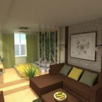 однокомнатная квартира для семьи с ребенком фото планировки