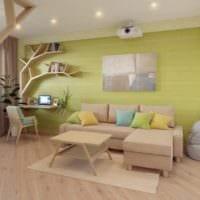 однокомнатная квартира для семьи с ребенком интерьер идеи