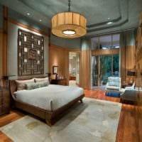 оформление потолка в спальне декор