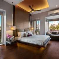 оформление потолка в спальне дизайн