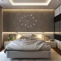 оформление потолка в спальне дизайн фото