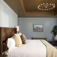 оформление потолка в спальне дизайн идеи