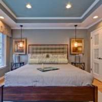 оформление потолка в спальне идеи дизайна