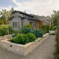 огород с грядками дача дизайн