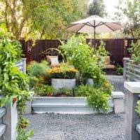 огород с грядками идеи дизайн