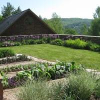 огород с грядками на даче идеи дизайн