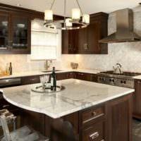 плитка на кухне стильный дизайн