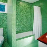 плитка для ванной зеленая идеи