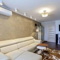 потолок в гостиной декор
