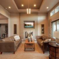 потолок в гостиной идеи дизайна