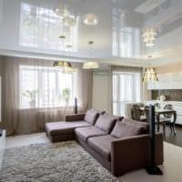 потолок в гостиной идеи интерьер