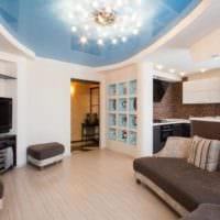 потолок в гостиной интерьер идеи