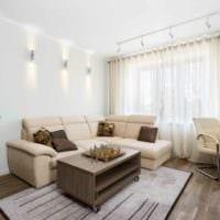 потолок в гостиной натяжной дизайн фото