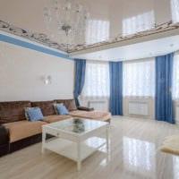 потолок в гостиной натяжной дизайн идеи