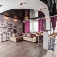 потолок в гостиной натяжной идеи
