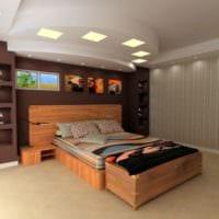 потолок в спальне декор