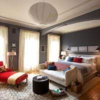 потолок в спальне дизайн фото
