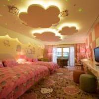 потолок в спальне идеи