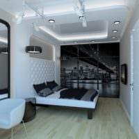 потолок в спальне красивый дизайн