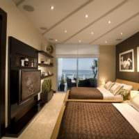 потолок в спальне современный дизайн