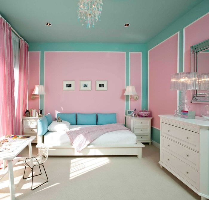 покраска потолка в спальне