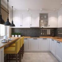 интерьер маленькой кухни проект
