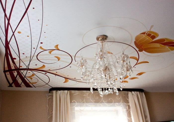 рисунки на потолке в спальне
