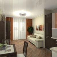 современный дизайн квартиры 33 м2