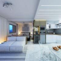 светлый дизайн квартиры 33 м2