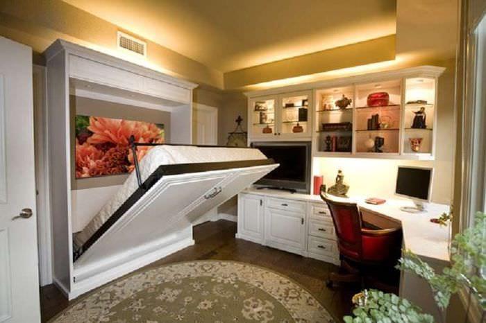 мебель трансформер в спальне гостиной