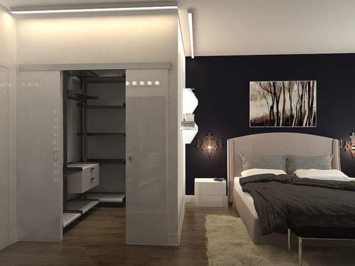 спальня 15 кв м с гардеробной