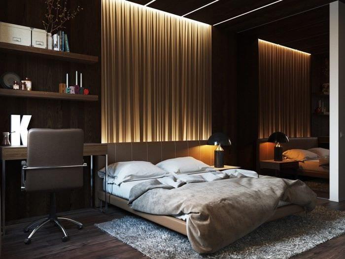ковер в спальне 2018