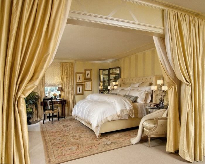 материалы для отделки классической спальни