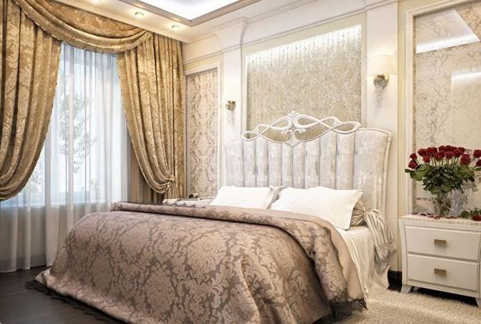 оформление классической спальни