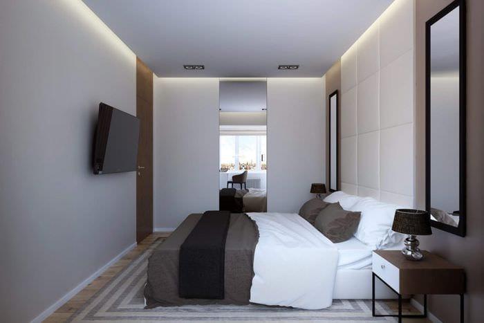 спальня 10 кв м со шкафом купе