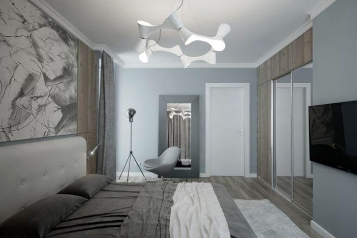спальня 15 кв м хай тек