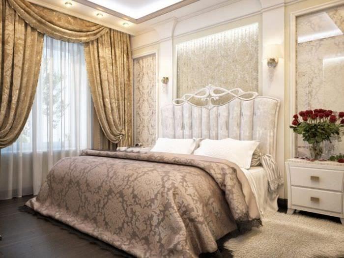 спальня 15 кв м классика