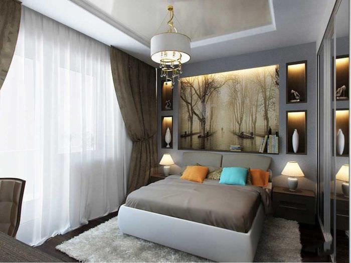 шторы в спальне 15 кв м