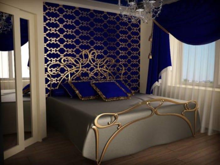 спальня 15 м2 классический стиль