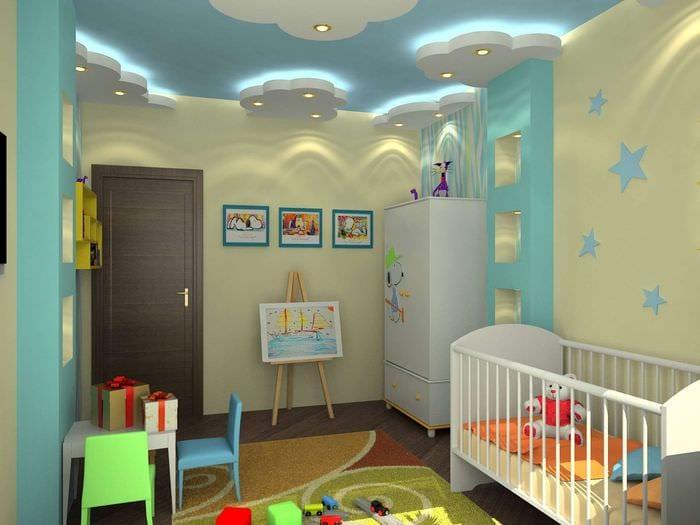 отделка стен в спальне детской