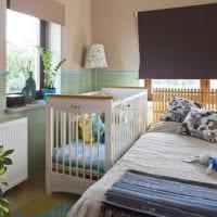 детская в спальной комнате интерьер