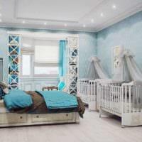 детская в спальной комнате интерьер фото