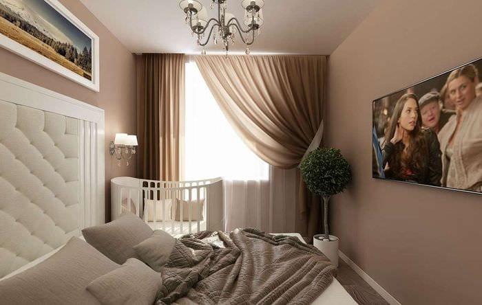 мебель в спальне с детской