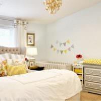 детская в спальной комнате родителей
