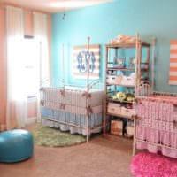 детская в спальной комнате современный интерьер