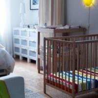 детская в спальной комнате стильный дизайн
