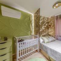 детская в спальной комнате зонирование