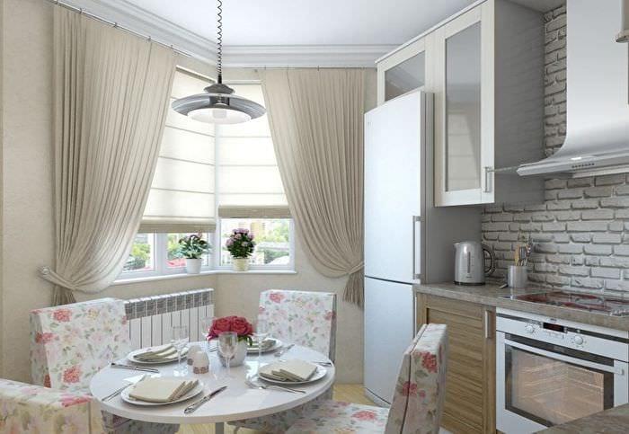 дизайн и зонирование прямоугольной кухни