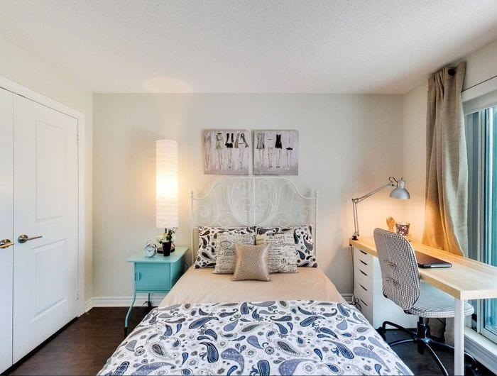 дизайн красивой спальни 9 кв м