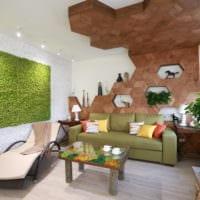 дизайн потолка в эко стиле